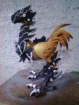 war chocobo caly sculpture by canary101