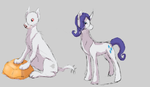 Rarity and Diamond: MLP AU Sketch by Messenger-Pigeon
