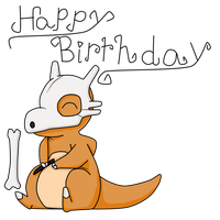 Birthday picture cubone by Lynnae-Madison
