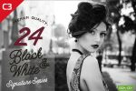 24 Black and White Adobe Photoshop Actions by C3CreativeSpace