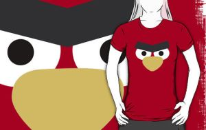 Angry Birds Red Bird Shirt by drg