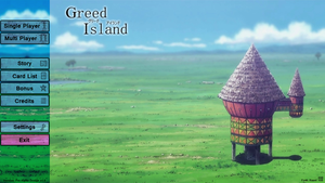 Greed Island - Pre-Alpha Design v1.0 - Main Menu by daedalus-net
