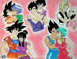 Dragon Ball couples by migio90