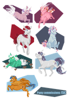 A lot of G1 ponies + PONY COMMISSIONS by bPAVLICA