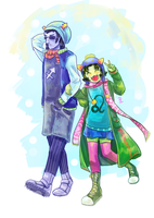 Equius and Nepeta by zzpopzz