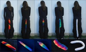 Crocheted Tails Set 3 - Rainbow by RebelATS