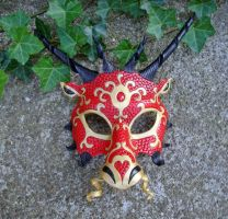 Red Dragon Mask by merimask