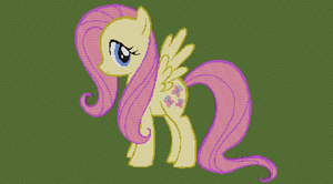 Fluttershy Pixel Art by CrazedWD