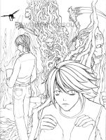 Death Note -- Lineart by WhisperingSoul
