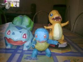 Squirtle charmander e bulba by MichelCFK