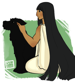Hecate with Puppy