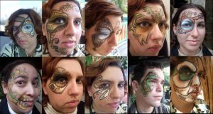Steampunk Inspired Face Paints by BananaFairy59