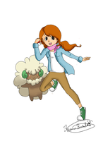 Claire and Whimsicott by reigned-wings