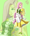 My Version of Gijinka Flutterhsy by ppphanon
