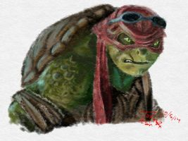 Turtle in Red by ToxieKat