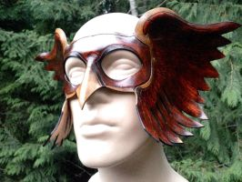 Leather hawkman mask by Skinz-N-Hydez