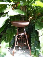 Rusty Brazier or birdbath by elf-fu-stock