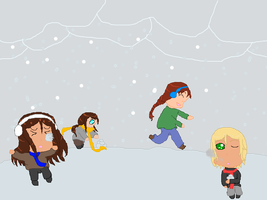 Snowball Fight - SmallAustrianVillage by Sweet-Starlit-Art