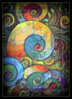 oldpaintingrevisited abstract spiral digital by santosam81