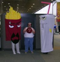 Aqua Teen Hunger Force Cosplay by OrganicGolem