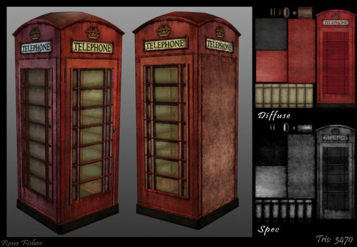 Telephone Booth by Licorize