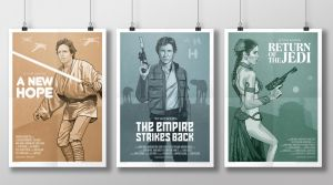 Star Wars trilogy poster set by oldredjalopy