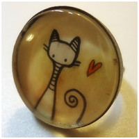 Handmade Ring, Kitty by cellsdividing
