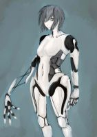 type female android by AltGlanz