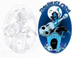 Doghouse crew logo with sketch by yayzus