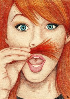 Lindsey Stirling Moustache by liensartwork