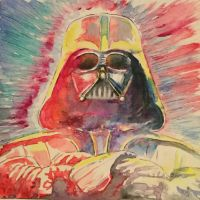 Darth,2017,watercolour,210x220mm by Maria-the-artist