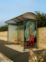 Ghoulia Yelps: Bus Stop by Alaxr274