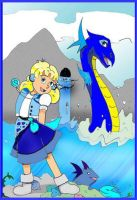 Juli and Water Dragon by TRALLT