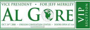 Al Gore VIP Fundraiser Ticket by JackRaz