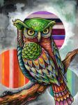 Owl with Orbs by bryancollins