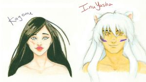 InuYasha and Kagome.... AGAIN by psycobabble402