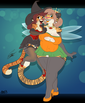 Trick or Treating Tigers by BagelCollector