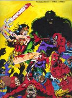 Wonder Woman vs Marvel Zombies by gagex07