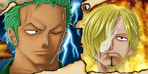 Zoro and Sanji - QR2 by McFrankyArt