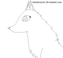 Free Female Wolf Lineart by americacat1