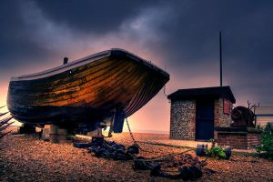 Boat in a Storm by lorni3
