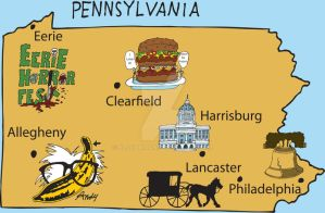 Pennsylvania Map by Bloodrican