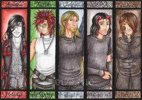 Commission Bookmarks 6 by Lienwyn