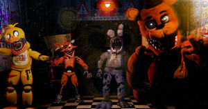C4D|Wallpaper|Poster|Five nights at Freddy's 2 by YinyangGio1987