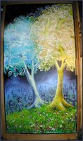 The two trees of Valinor by Atlasrising