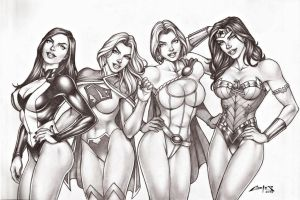GIRLS OF DC COMICS !!! by carlosbragaART80