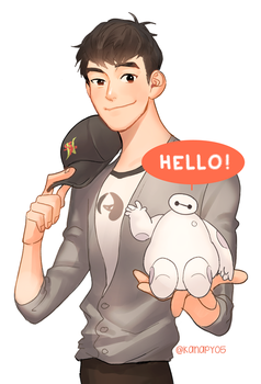Hello! I'm Baymax. by kanapy-art