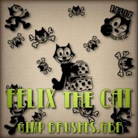 FELIX the CAT Brushes for GIMP by Jamiecat