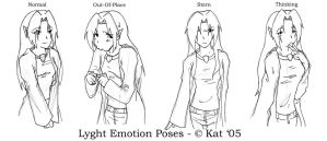Lyght Emotion Poses - Set 1 by cocowoushi