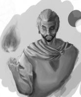 Fire Dude GreyScale by CotyP